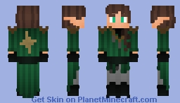 Ashen The Researcher | Wood Elf From BOV Minecraft Skin