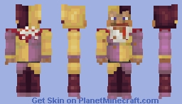 Fat Steve in Jester's Costume with Burger Crumbs (version with clean hands in desc.) Minecraft Skin