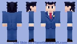 Phoenix Wright [Ace Attorney] Minecraft Skin