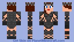 Female Warrior Minecraft Skin