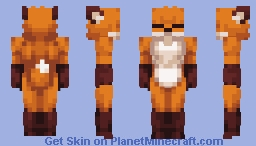 Female Fox Base (More Player Models Compatible) Minecraft Skin