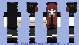Girl black cat (2) Minecraft Skin