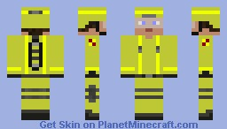 Fire Fighter - Full Helmet and Oxygen Tank Minecraft