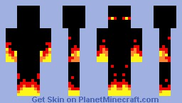 Fire Enderman Minecraft Skin