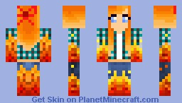 Fire Girl Minecraft Skin
