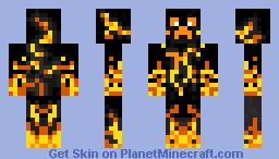 Fire Knight Minecraft Skin