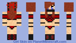 Fire Ninja Girl (Elemental Ninja Girls Pack) Minecraft Skin
