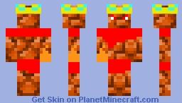 Firerock King Flamepixel Minecraft Skin