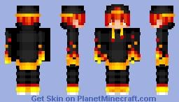 Fire gamer skin Minecraft Skin