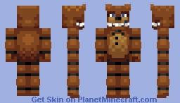 Fixed Freddy Fazbear Minecraft Skin