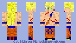 Goku with battle scars Minecraft Skin