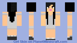 casual dark haired female Minecraft Skin