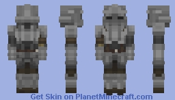 Fluted Knight - Demon's Souls Minecraft Skin