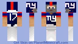 New York Giants football player Minecraft Skin