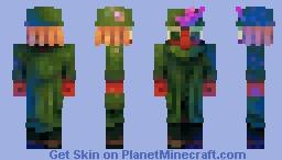Snufkin - Fuzzy Felt Moomin Minecraft Skin