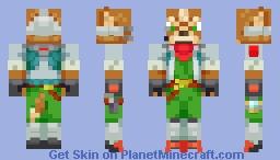 Fox McCloud: Star Fox (Alternates in Description) Minecraft Skin