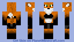 Fox Girl(Fixed and better shading) Minecraft Skin