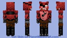 Foxy the Pirate Fox - Five Nights at Freddy's (Alts. in Description) Minecraft Skin