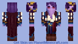 𝓡𝓸𝔃𝒆 || Critical | Mollymauk the Tiefling Minecraft Skin