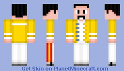 Freddie Mercury - Wembley Minecraft Skin