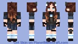 catgirl soldier :3 Minecraft Skin
