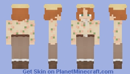[FRP] ✧ [FREE TO USE] Floral Archaeologist Minecraft Skin