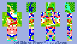 frog thats covered in paint :D Minecraft Skin