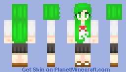 Girl in Fuku Fire Costume Minecraft Skin