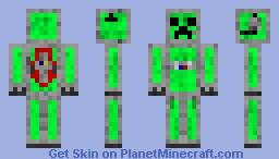 Futuristic Space Creeper Minecraft Skin