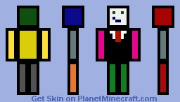Outlined Colorful Person Minecraft Skin