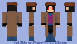 Marvel Comics - Gambit Minecraft Skin