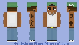 Carl Johnson - Gangster version Minecraft Skin