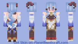 Ganyu - Genshin Impact Minecraft Skin