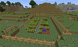 Simple garden with staggered cobble stone walkway Minecraft Project