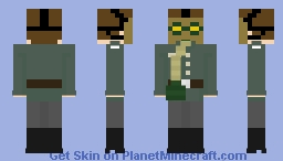 WW2/WWII German with romanian gas mask Minecraft Skin