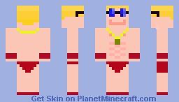 Gay Lifeguard Minecraft Skin