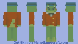 ahhh crocodile gena real Minecraft Skin