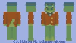 ahhh crocodile gena real Minecraft Skin