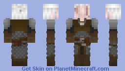 geralt of rivia  no eyes Minecraft Skin
