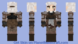 Geralt of Rivia | Witcher 3: Wild Hunt Minecraft Skin