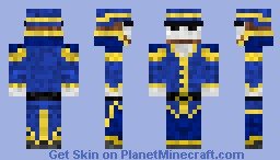 ghost captain Minecraft Skin