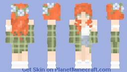 Ginger in Plaid Minecraft Skin