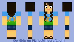 Cute Girl in a Giraffe Shirt :D Minecraft Skin