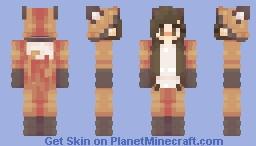 Fox Power! ~Fox Kigurumi Time, Girl Minecraft Skin