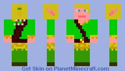 Girl Elf Archer Minecraft Skin