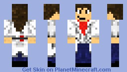 Girl Lab coat Minecraft Skin