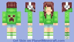 Minecraft Gamer - Creeper Style [blonde version in desc] Minecraft Skin