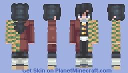 Giyu Tomioka - Demon Slayer: Kimetsu no Yaiba - [Edited] Minecraft Skin