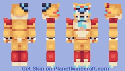 Glamrock Freddy - FNaF: Security Breach Minecraft Skin