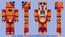 Secutity Breach - Glamrock Freddy Minecraft Skin